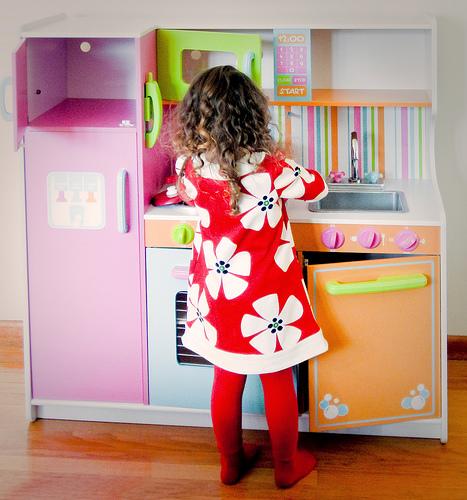 Copii in bucatarie
